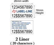 Pricing Labels - 26x16mm